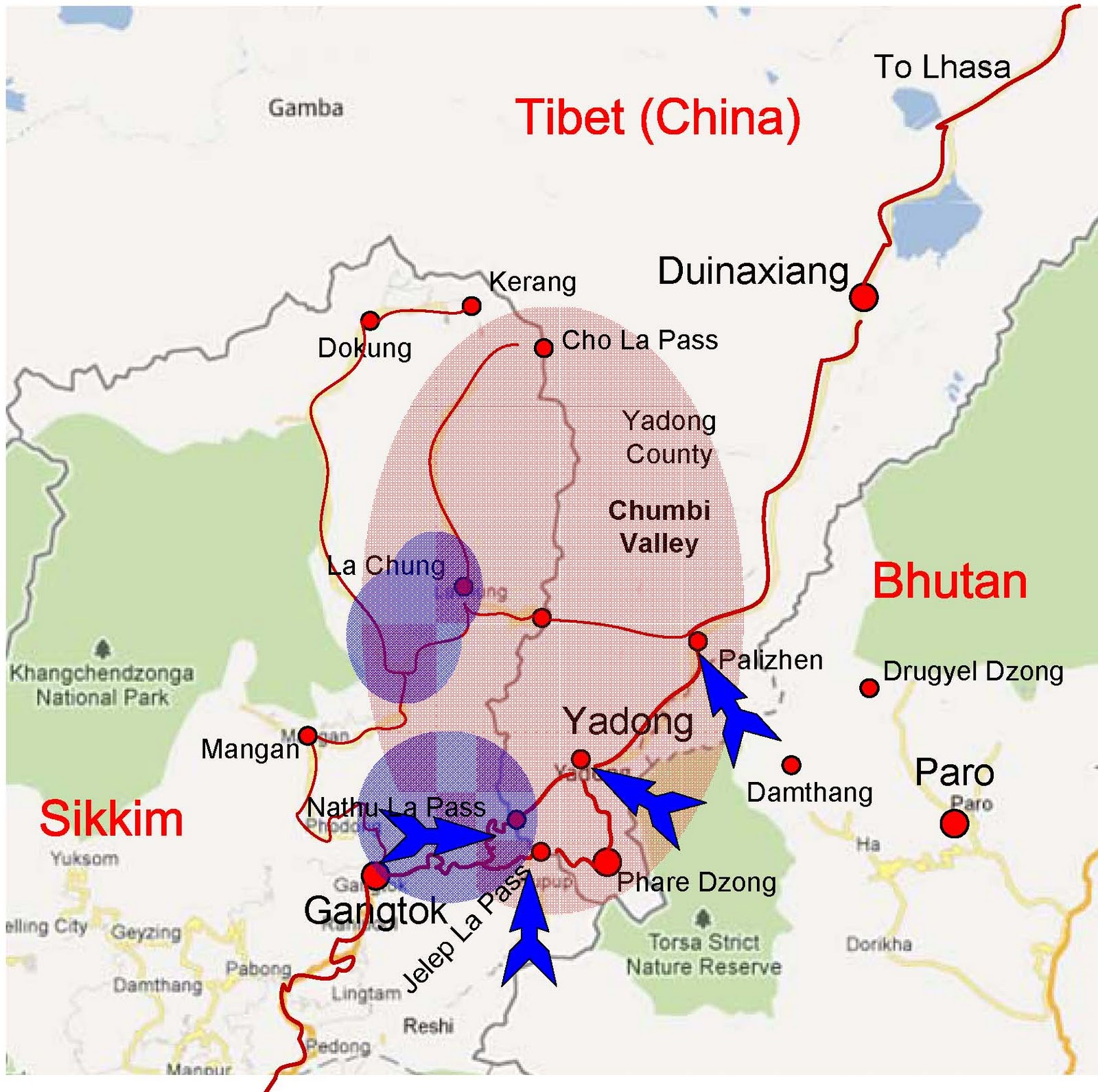 Would India disrupt Bhutan China Border Negotiations ... on australia border map, russia border map, india border changes, spain border map, france border map, pakistan border map, western chinese border map, india china boundary map,