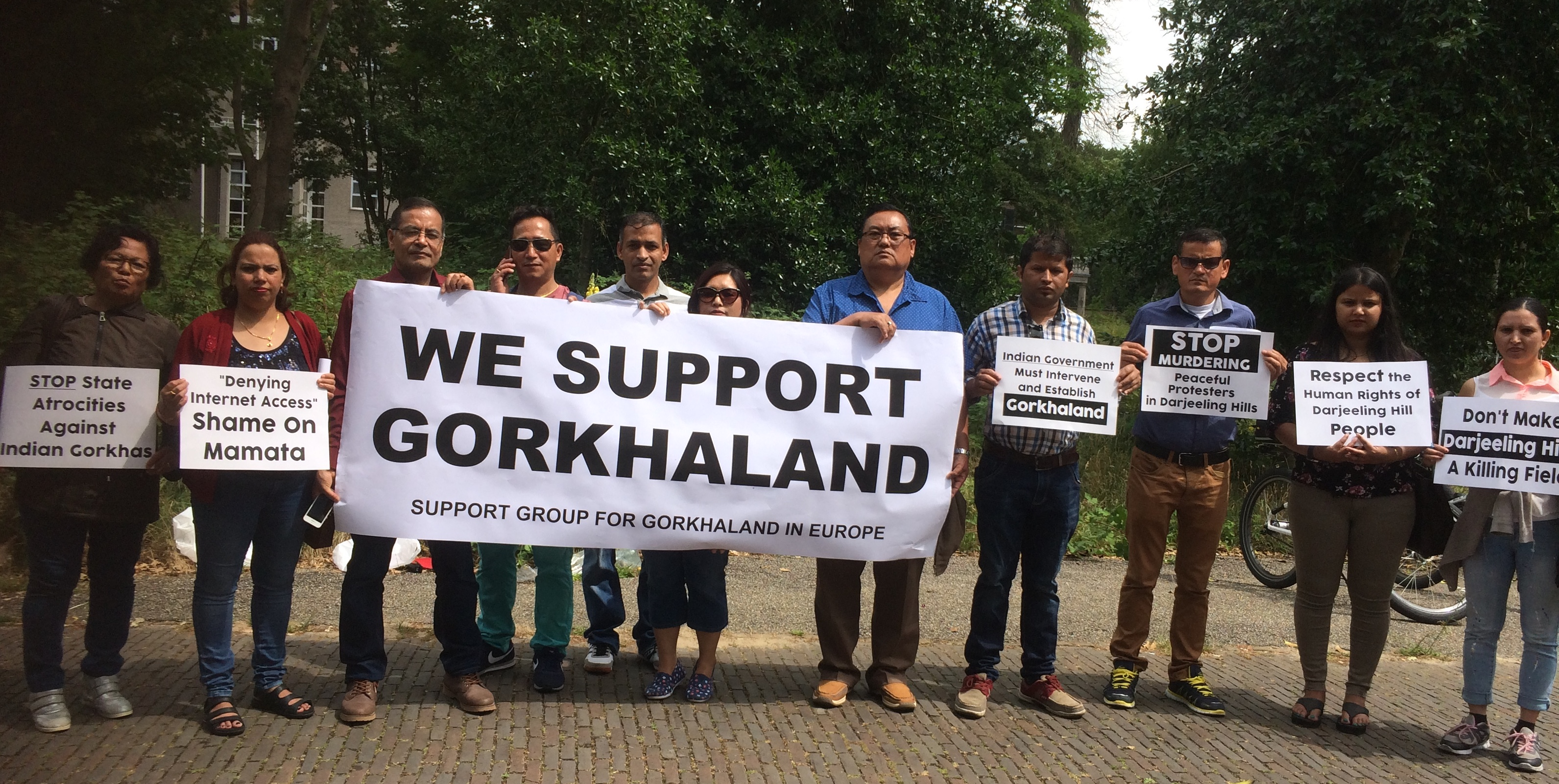 Gorkhaland supporters hold protest in Hague